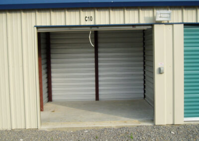 Our Large 10'x10' unit with 8' overhead door - Tin Roof Storage Solutions, Morehead, Kentucky