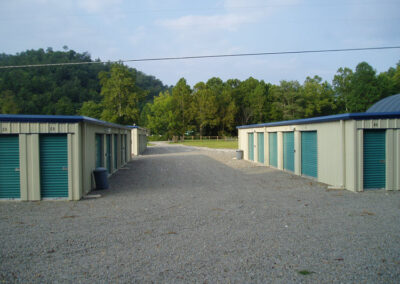 Spacious driveways make it easy to maneuver trucks and trailers into the storage areas. - Tin Roof Storage Solutions, Morehead, Kentucky