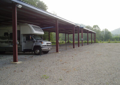 Covered parking for RVs, boats, trailers - Tin Roof Storage Solutions, Morehead, Kentucky