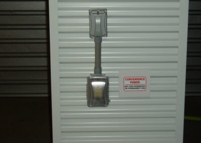 Convenience Power is available for all storage units. Tin Roof Storage Solutions, Morehead Kentucky